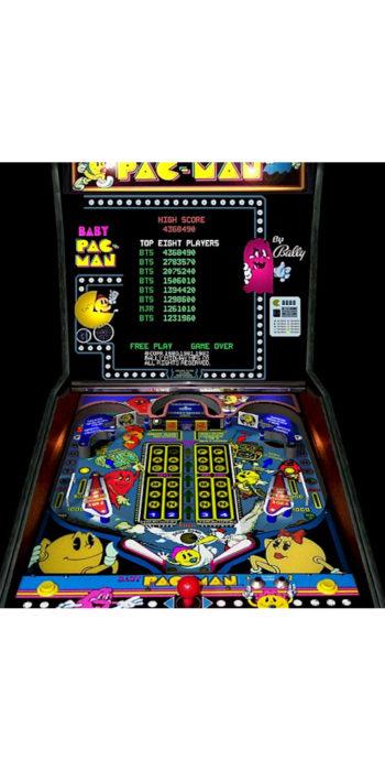 vernimark noleggio videogiochi arcade BABY PAC-MAN BALLY-MIDWAY