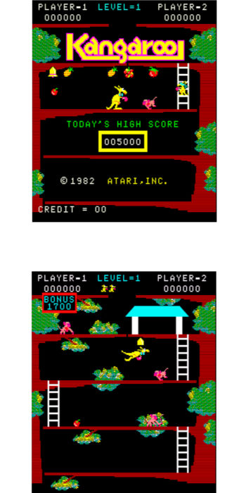 vernimark noleggio videogiochi arcade anni 80 - Kangaroo Atari