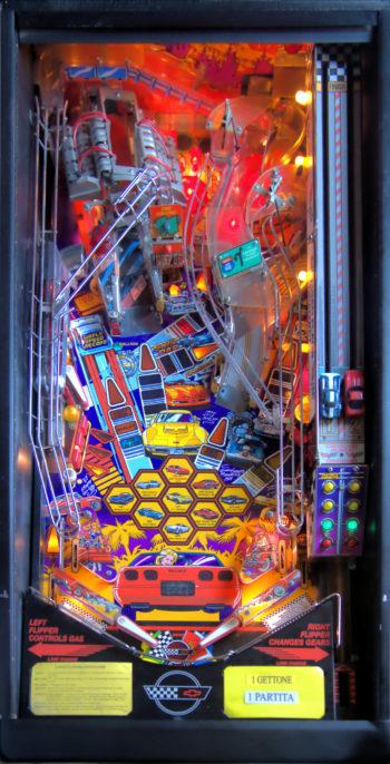 vernimark noleggio videogiochi flipper arcade CORVETTE