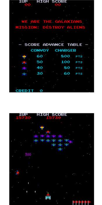vernimark noleggio videogiochi arcade anni 80 - Galaxian Namco
