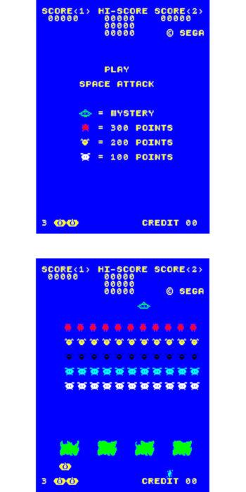 vernimark noleggio videogiochi arcade SPACE ATTACK SEGA