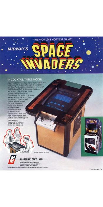 vernimark noleggio videogiochi arcade SPACE INVADERS MIDWAY